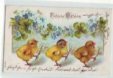 Frohe Ostern Prägedruck 1906  Osterkarte   Küken