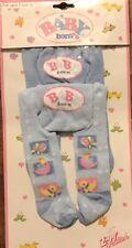 Rare New Baby Born Blue Tights Stockings Clothes (Set of 2) Zapf Creation Nip