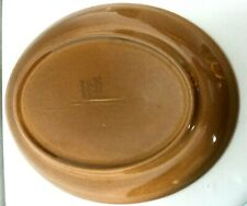 """Iroquois Casual China By Russel Wright 12.5"""" Brown Oval Platter"""
