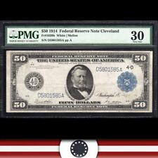 1914 $50 CLEVELAND FRN PMG 30 comment Fr 1039b  D5801585A