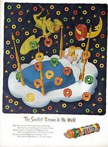1946 Life Savers Vintage Print Ad The Sweetest Dream In The World