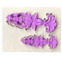 3D DIY Cake Mold Fondant Silicone Mould Baking Decor Flowers Sugarcraft KV