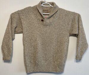 vtg Vintage London Fog Outdoors Unlimited Sweater Shawl Wool Blend Gray Medium