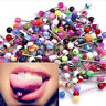 30/60 Mixed Color Tongue Ring Piercing Jewellery Tounge Different Barbell Bar US