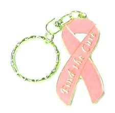 Peach Ribbon Key Chain Ring Uterine Cancer Awareness Find Cure New