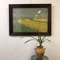 Hans von Volkmann 118x85cm Lithographie Ancien École Allemande Paysage Peinture