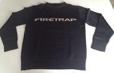 Firetrap Pullover Strick schwarz Größe M