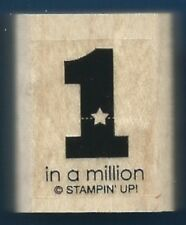 1 in a MILLION Star small occasion card gift tag Stampin' Up!  wood Rubber Stamp