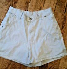 Vintage Jr Women's Lee Dungarees Size 11M Carpenter Khaki Shorts High Waist 90s