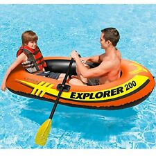 Explorer 200 Inflatable Boat 2 Person Floating Water Raft~Boat Ages 6+ Pool~Lake