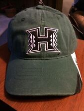 NEW Hawaii Warriors Baseball Cap Hat Green One Size Sewn Logo By NCAA