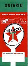 1959 Texaco Road Map: Ontario NOS