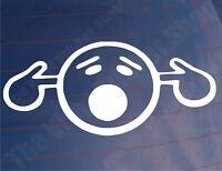 TOO LOUD SMILEY Fingers Novelty Modified Car/Van/Bumper/Window Vinyl Sticker