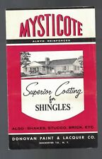 Mysticote Superior Coating for Shingles 1963 Ad Booklet w Paint Samples