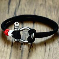 Women Men Fashion Rope Wrap Bracelet Nautical Marine Survival Wristband Bracelet