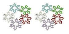 10pcs Enamel SnowFlake Charms