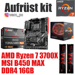 AMD 🆁🆈🆉🅴🅽 7 3700X ● MSI B450 Mainboard ● 16GB RAM ● Ryzen PC Bundle Set Kit