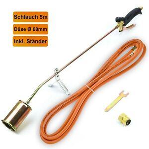 Gasbrenner 58 KW Dachbrenner Unkrautvernichter Brenner Abflammgerät (SN0283)