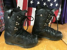 LTD BLACK SNOWBOARD BOOTS Mens sz 9.5 EU 42.5 used VGood