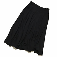 Women's JIL SANDER Wrap Skirt Wool Black Size EU 42 US 10 UK 14