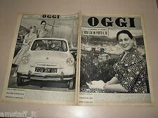 OGGI=1957/38=RENATA TEBALDI=VESPA PIAGGIO 400=OLGIATE MOLGORA=SARZANA=GAVAZZENI=