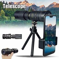 Super Telephoto Zoom Monocular Telescope with Tripod, for Phone, 4K 10-300X40mm