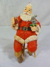 Coca Cola Santa sitting in chair - Christmas Ornament