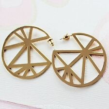 Brilliant Shinny Gold Plated Earrings Lead & Nickel Safe