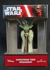 Disney Star Wars Yoda Figural Lucas Film Christmas Ornament 1Hcm3701 Boxed New