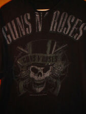 GUNS N ROSES AXL SLASH ROCK BAND VINTAGE-LOOK SKULL T SHIRT MADE BY BRAVADO XL