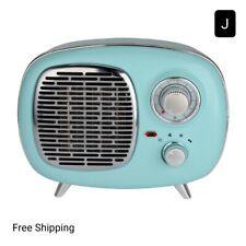 New, Better Homes & Gardens Electric Ceramic Retro Heater 1500W Indoor, Mint