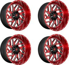 Set 4 22 Fuel D691 Triton Candy Red Milled Wheels 22x12 8x170 43mm Truck Rims
