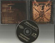 MEGADETH 1997 Ultra Rare BONUS 2 RARE LIVE TRX USA PROMO CD Single tornado /Tout