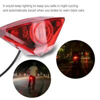 Electric Bike Scooter Rear Tail Safety Light Warning Brake Lamp DIY Accessories