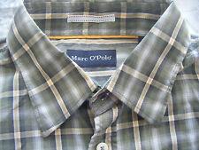 MARC O`POLO GREEN, WHITE AND YELLOW CHECK SHIRT M MEDIUM