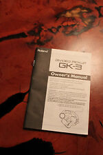 Roland GK-3 Pickup Manual, In Very Good Condition, OEM Manual