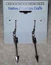 Handcrafted Native American Silver Arrow Earrings   USA