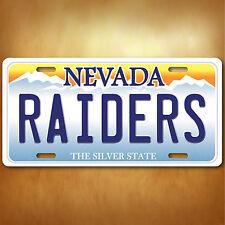 Nevada Las Vegas RAIDERS Aluminum License Plate Tag New