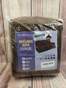 H. Versailtex Stretch Recliner Sofa Couch Slipcover Furniture Cover Brown Velvet