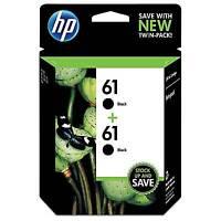 HP 61 2-pack Original Ink Cartridges, Black (CZ073FN)