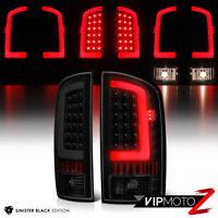 !BLACK SMOKE! For 03-06 Dodge RAM 1500 2500 3500 Black LED Brake Lamp Tail Light
