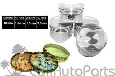 88-93 Toyota Celica Corolla 1.6L 4AF 4AFE DOHC Complete PISTONS WITH RINGS SET