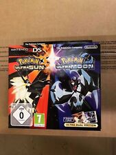 Pokemon Ultra Sun & Ultra Moon Dual Edition Nintendo 3DS Steelbook plus DLC