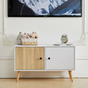 Modern Storage Side Tables Cabinet TV Stand with Shelves Cupboard Living Room