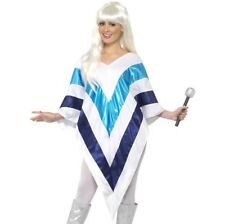 Ladies 70s 1970s Super Trooper Poncho Music Fancy Dress Costume New by Smiffys