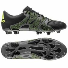 Adidas Men's X 15.1 FG/AG Leather Soccer Cleats, B26978, Black/SYellow, Size US9