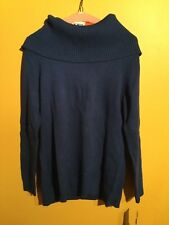 Charter club woman's mid weight blue sweater