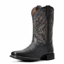 "Ariat 10029743 Men's Black Deertan Sport Herdsman 4LR 11"" Leather Western Boot"