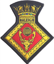 HMS Raleigh Royal Navy RN Crest Mod Embroidered Patch