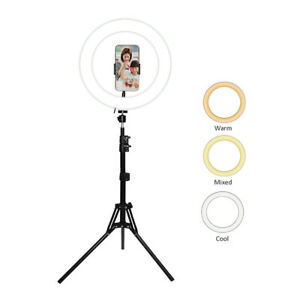 Dimmable 13W LED Ring Light Tripod Stand f/Photography Makeup Lighting Recording